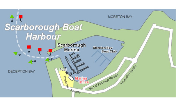 Scarborough Marina Map